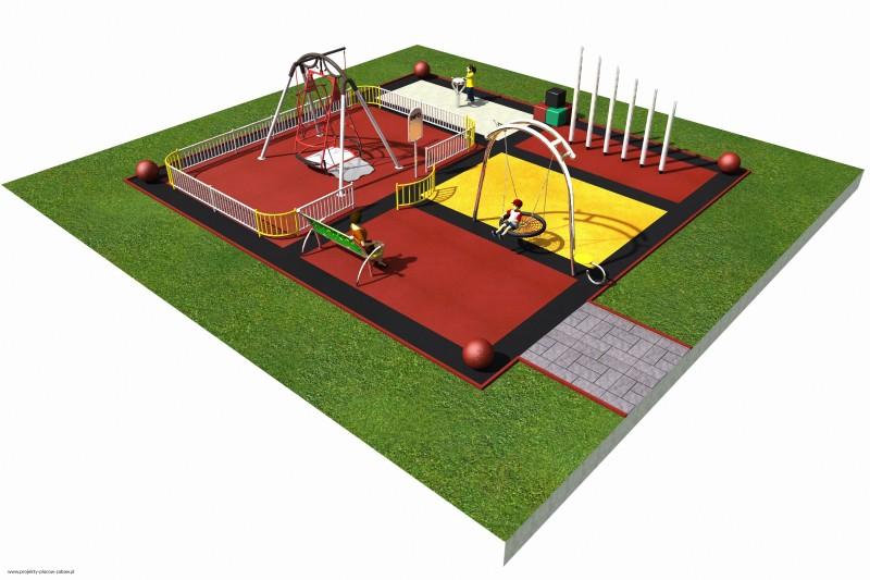 INTEGRADO (3+) integracyjne place zabaw - projekt placu zabaw