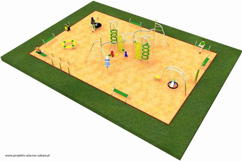 LIMAKO młodzież (6-12 lat) - projekt placu zabaw