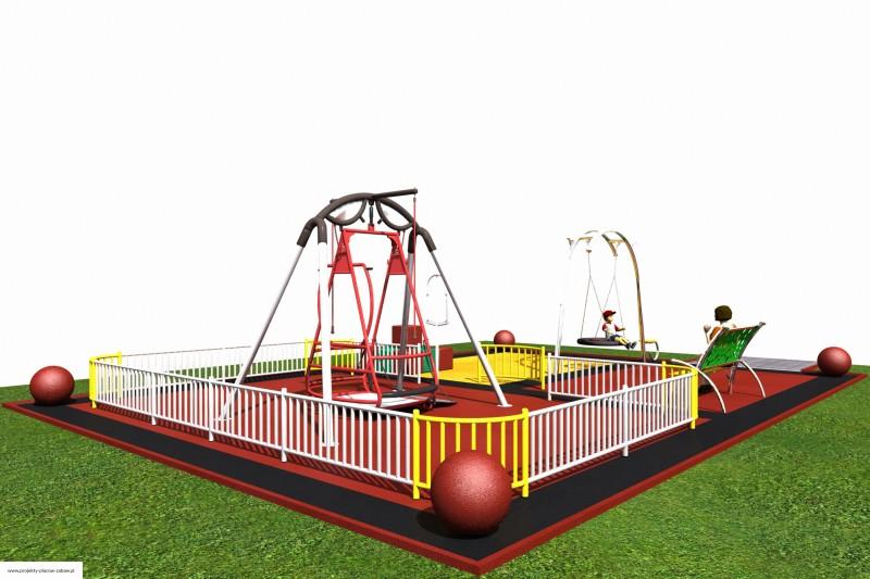 dla dzieci niepełnosprawnych - projekt placu zabaw