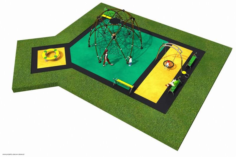 LINARIUM (3-12 lat) - projekt placu zabaw