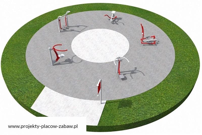 siłownie zewnętrzne - projekt placu zabaw