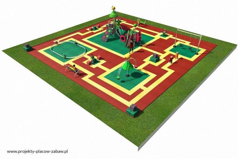 COLOR KIDS (1-6 lat) place zabaw dla dzieci najmłodszych - projekt placu zabaw