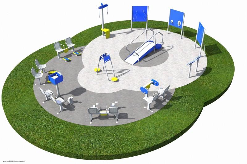 ACTIVE SENIOR strefy aktywnego seniora - projekt placu zabaw