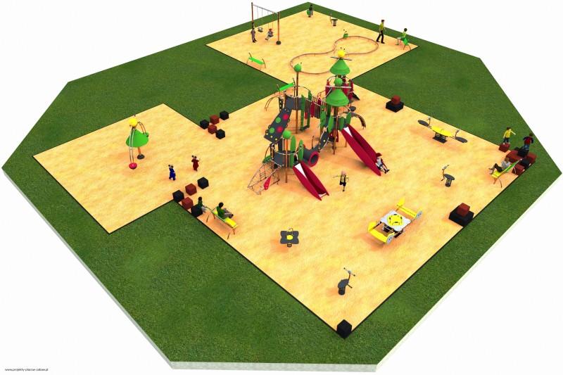 pow. 300 m2 - projekt placu zabaw