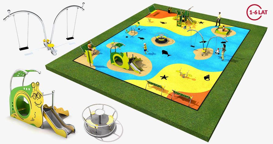 Projekt placu zabaw dla małych dzieci