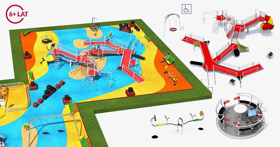 Projekt placu zabaw dla osób niepełnosprawnych