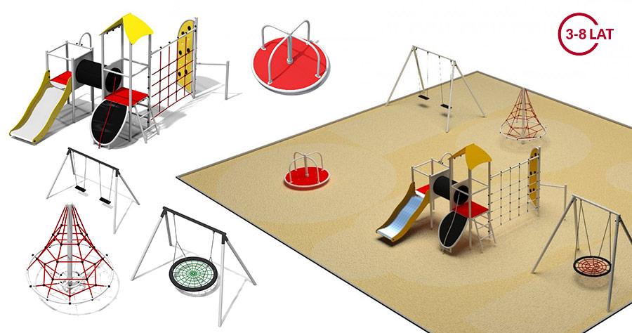 Projekt metalowy plac zabaw