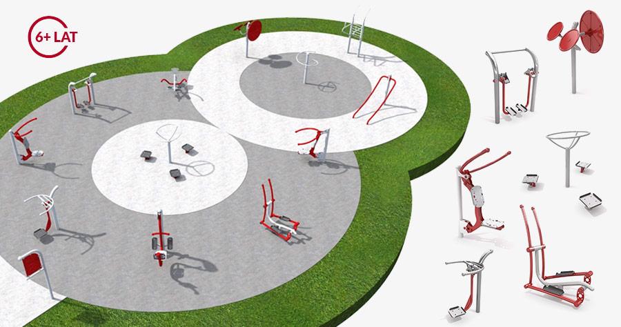 Siłownia zewnętrzna plenerowa Projekt placu zabaw