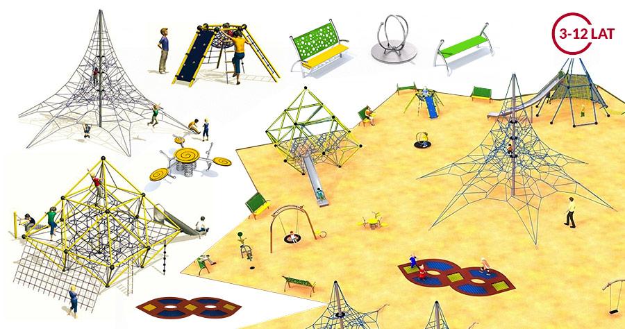 Urządzenia na plac zabaw pliki DWG